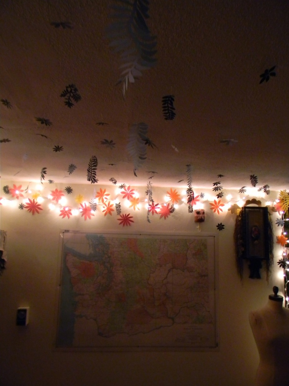 paper cuts and lights