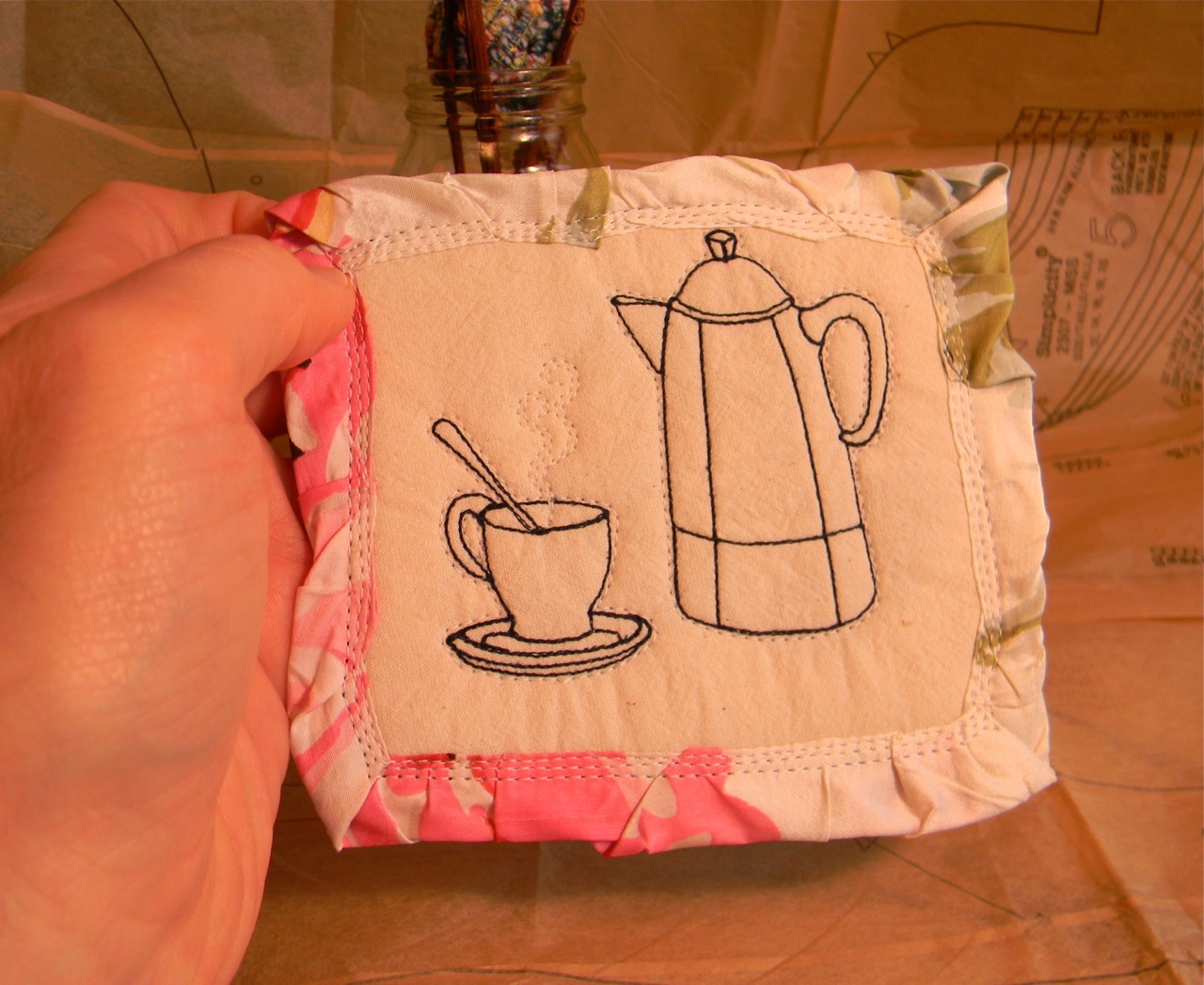 tiny coffee pot and cup1