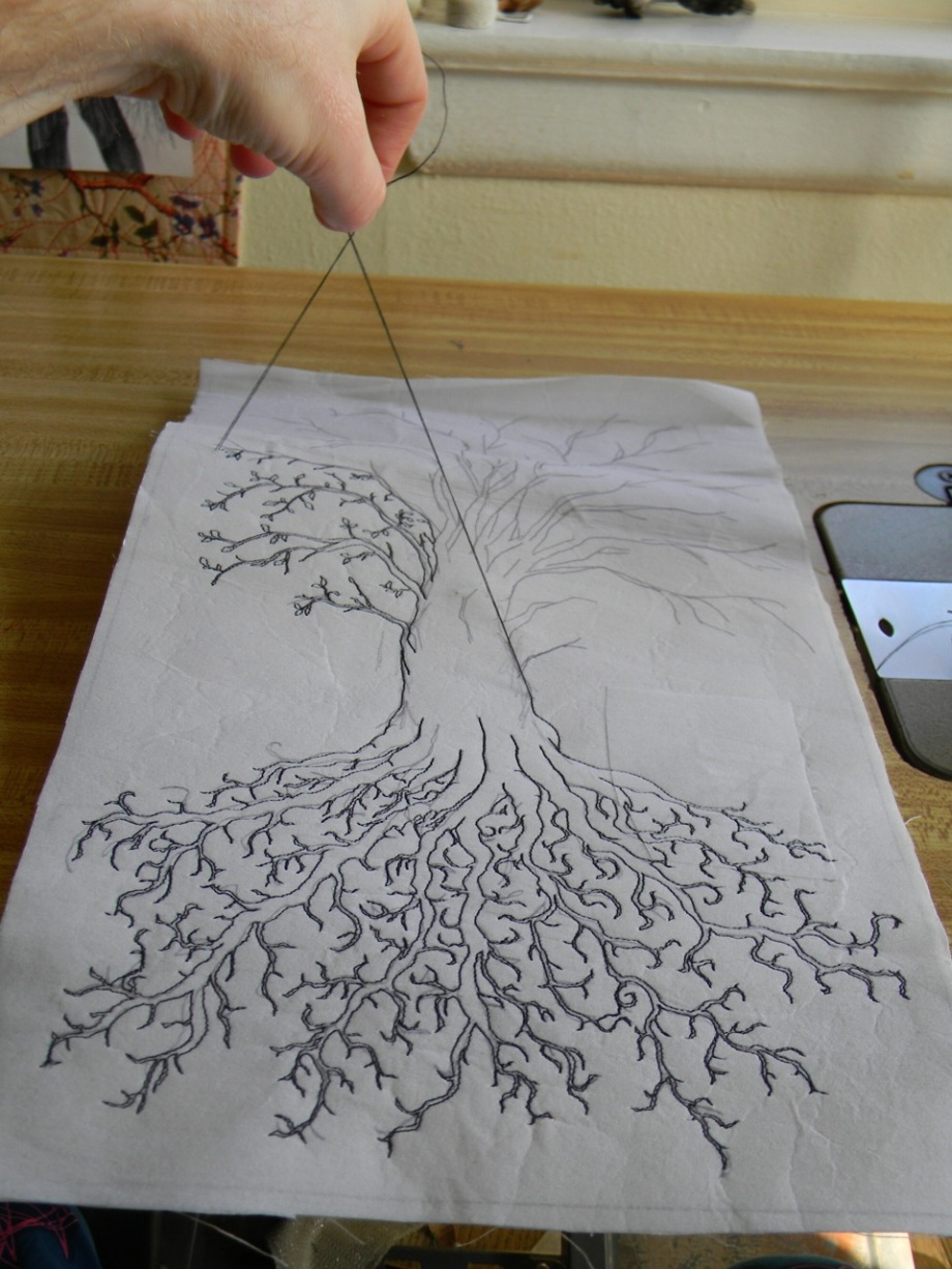 making the branches and leaves1