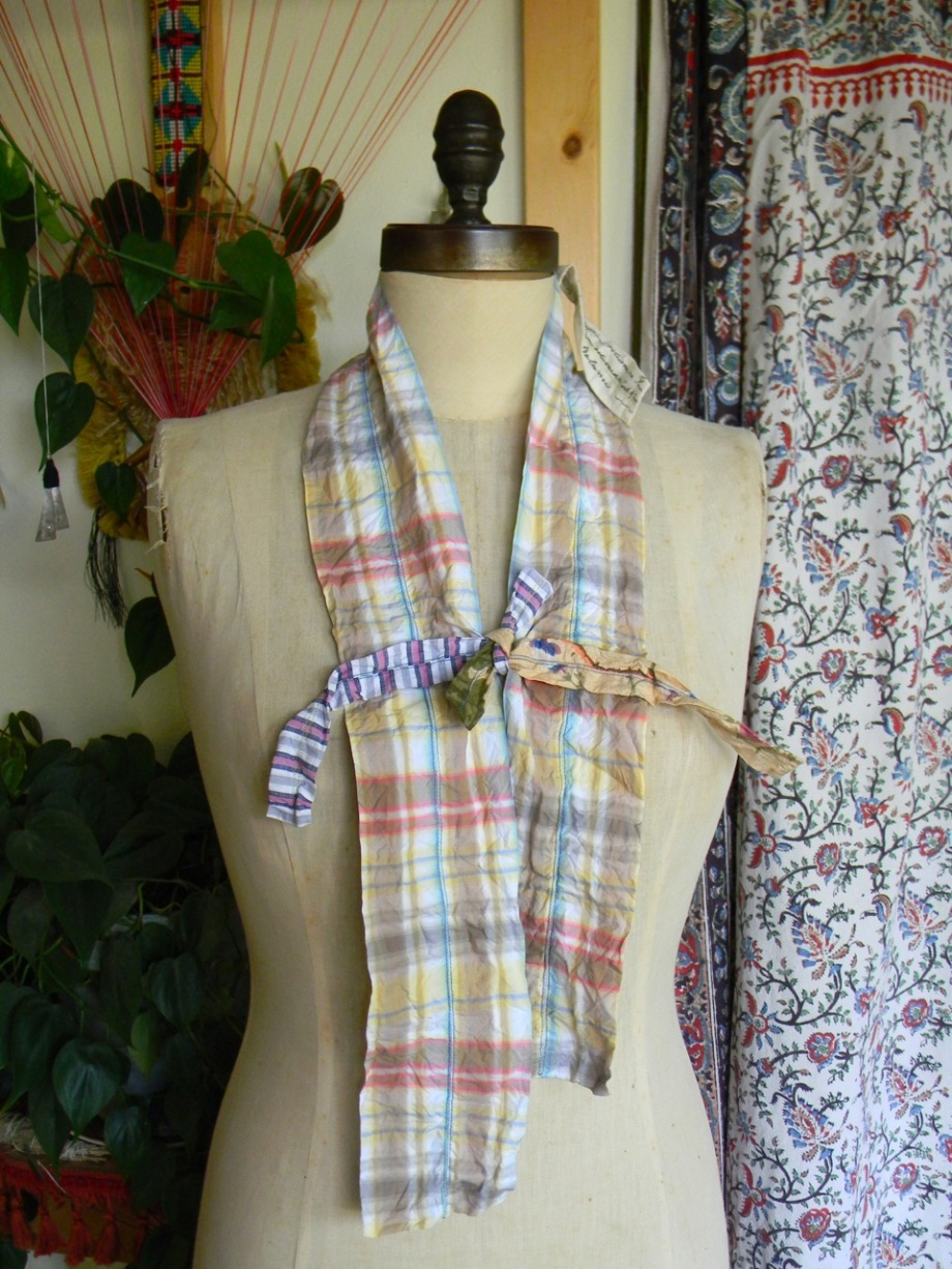 sculptural plaid scarf1