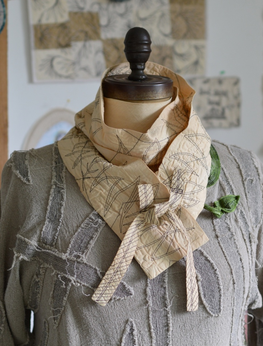 romance of tea and graffiti scarf1