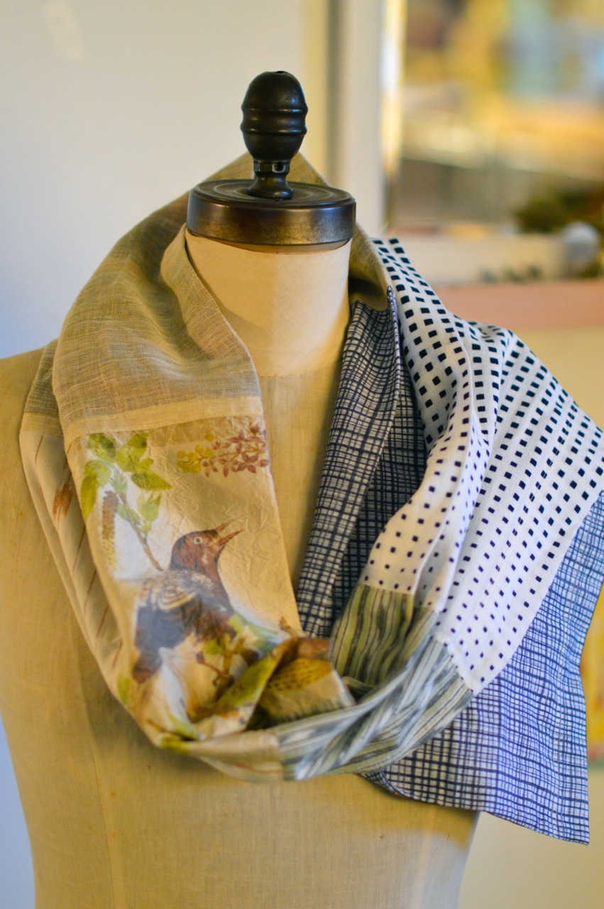 be an exotic bird scarf